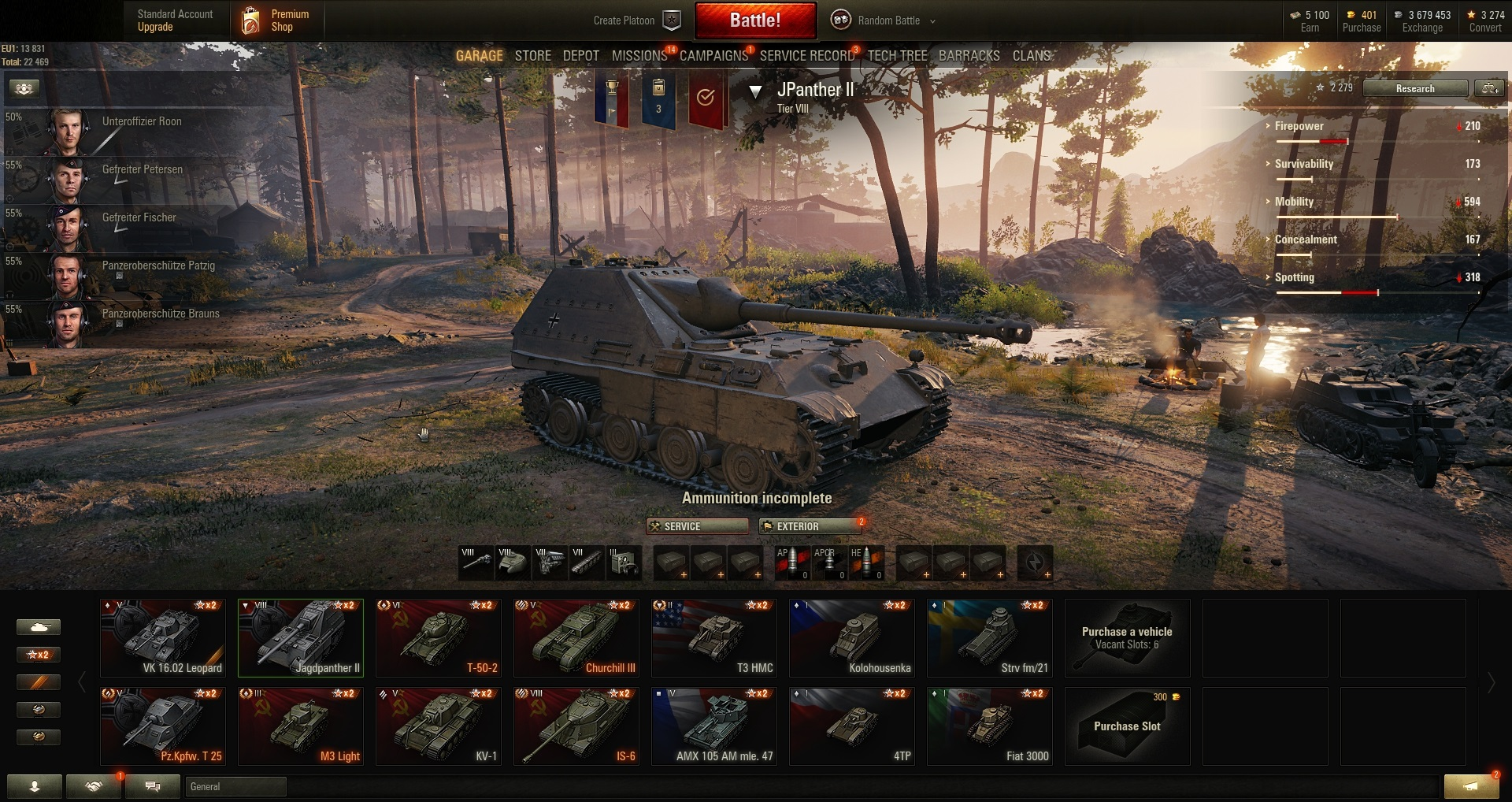 World of Tanks PC EU-Tier VIII 1 | Prem  Tank 3 | (#561)