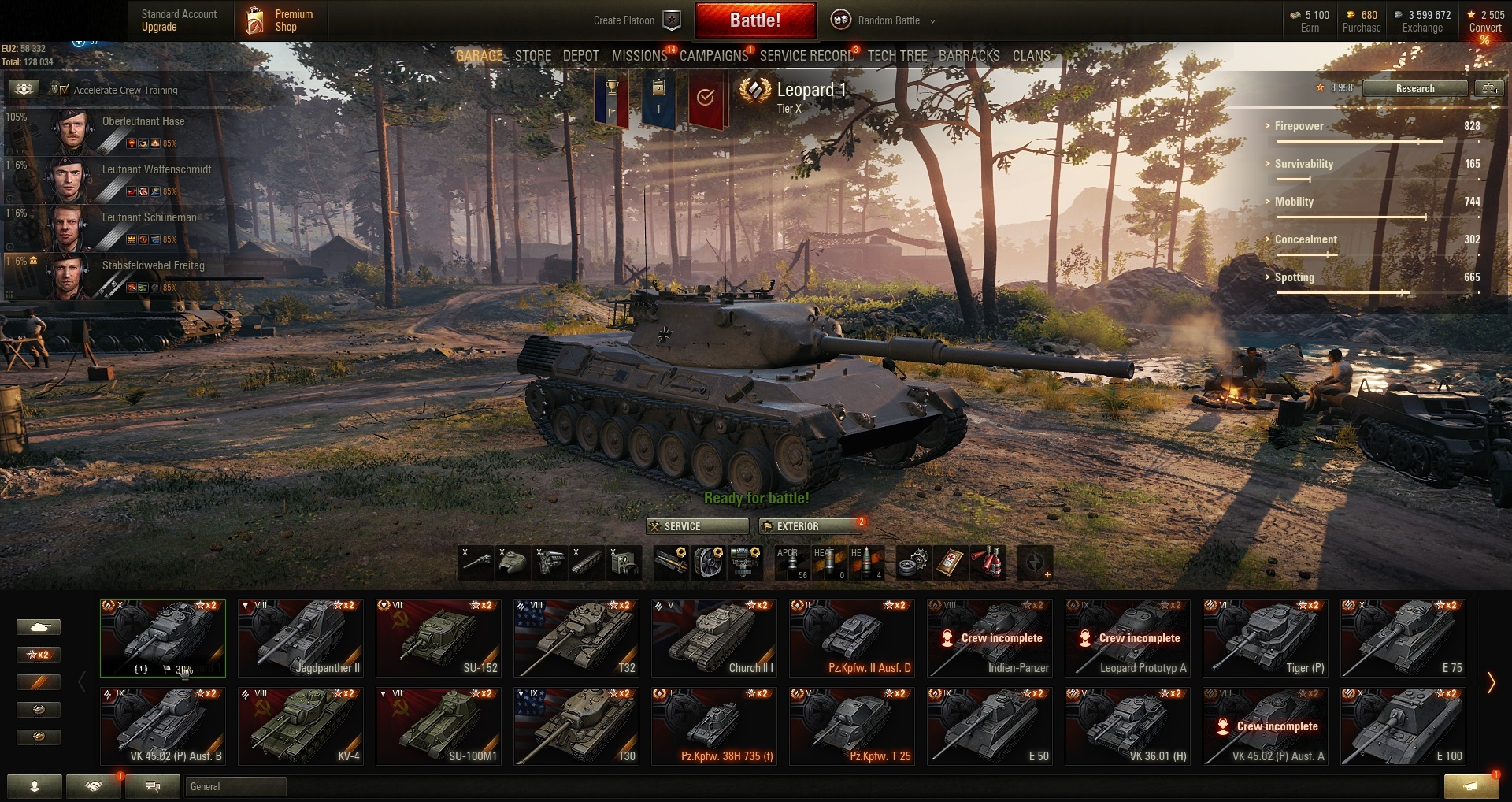 World of Tanks PC EU-Tier X 4 | IX 10 | VIII 10 | VII 8 | Prem  Tank