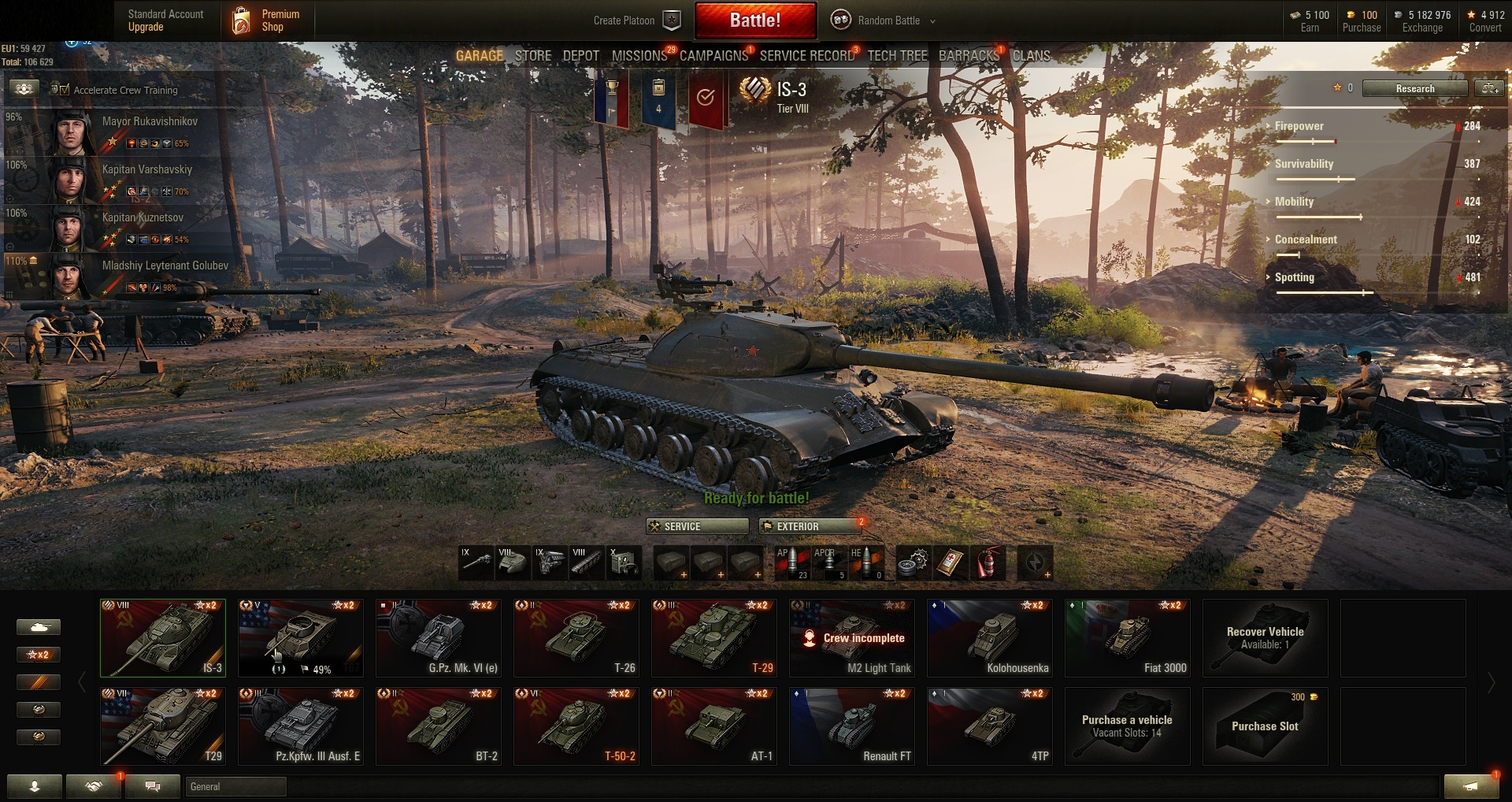 World of Tanks PC EU-Tier X 1 | IX 2 | VIII 7 | VII 2 | (#835)